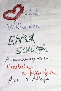 Plakat herzlich Willkommen Tansania Ilembula ENSA Schupa