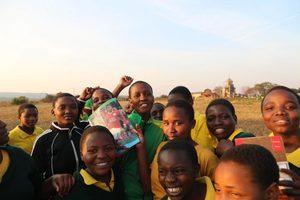 Fußballbegeisterung der Schülerinnen