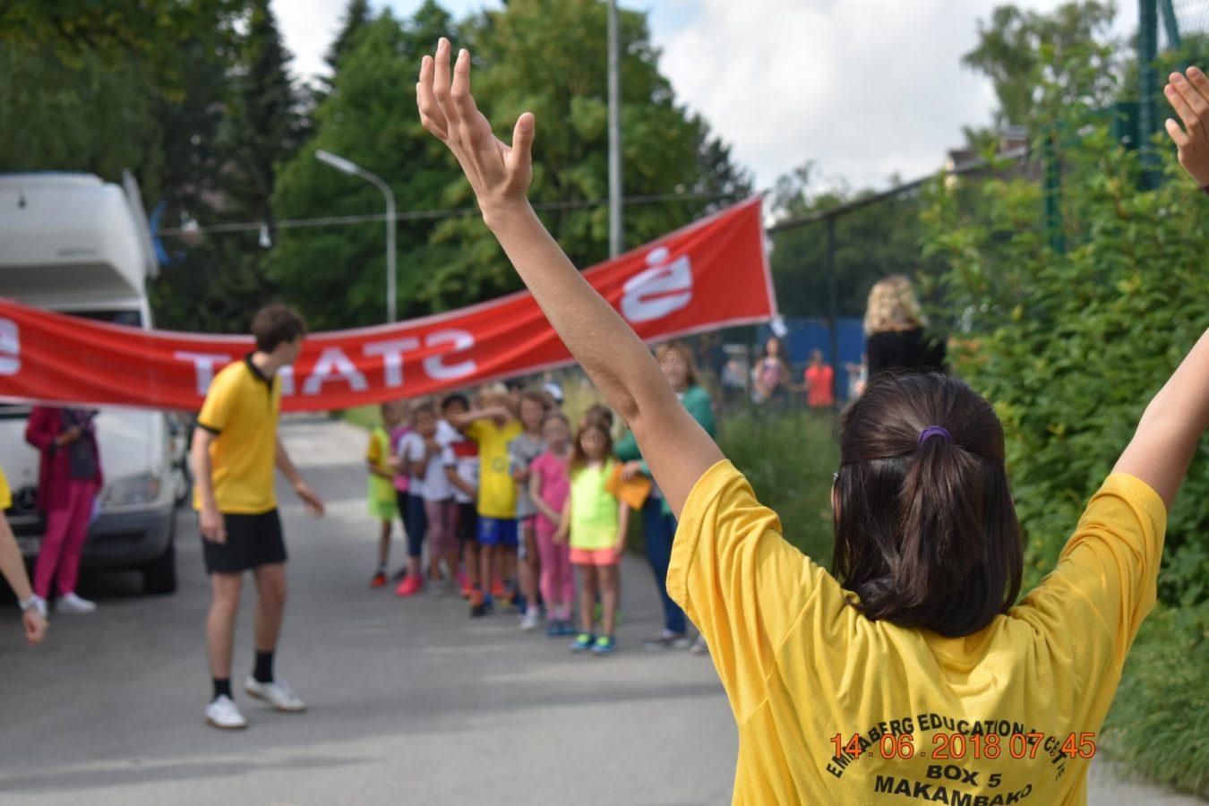 Start beim Spendenlauf an der Grundschule Planegg