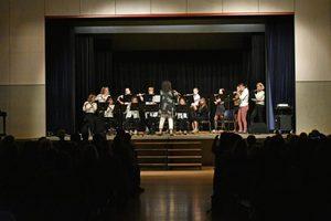 Das Flötenensemble Flautando unter der Leitung von N. Wiebe