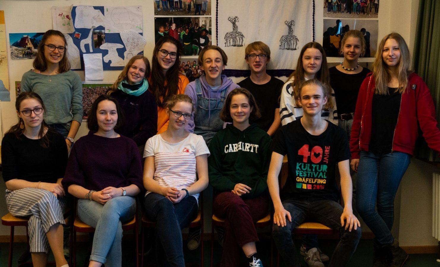 Die Schülerinnen und Schüler des KHG, die an der Begegnungsreise nach Emmaberg im Juli/August 2019 teilnehmen.